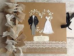 rustic wedding album personalised rustic wedding album guestbook hessian burlap