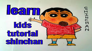 online drawing classes how to make shinchan kids tutorial step by