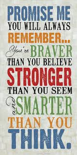 quotes about strength winnie the pooh this is what i say to my kids at the end of the morning