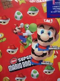 mario wrapping paper brick wall wrapping paper supermario wedding nerdy