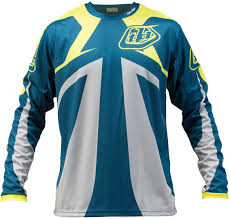 motocross jerseys troy lee designs sprint reflex jersey blau gelb motocross jerseys