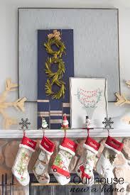 diy ideas to decorate a christmas fireplace mantel our house now diy fireplace christmas mantel decor ideas