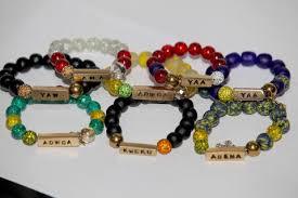 beaded bracelet name images African day name bead bracelet for men and women sleek friday JPG