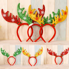 christmas headbands 2017 merry christmas ornaments sequins decorations antlers