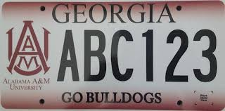 of alabama alumni car tag aamu alumni