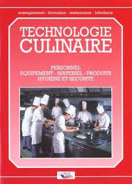 technologie cuisine livre technologie culinaire personnel équipement matériel