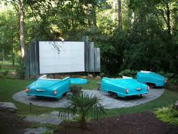 Backyard Outdoor Theater by Brilliant Backyard Ideas Big And Small