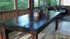 Dark Wood Kitchen Table Natural Farmhouse Kitchen Table U2014 Home Design Blog