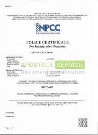 apostille for criminal record