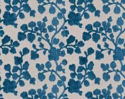 Turquoise Velvet Fabric Upholstery Turquoise And Navy Blue Fabric Velvet Ikat Upholstery