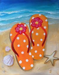 seashell flip flops starfish shells flip flop painting beginner