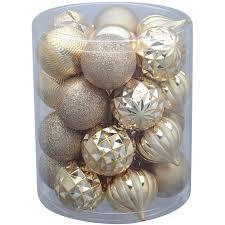 time 26 pack gold matte glitter ornaments walmart
