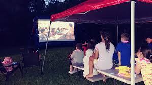 Backyard Movie Night Rental Bounce Zone Outdoor Movie