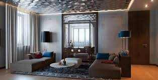 Interior Metal Wall Panels Brown Blue Decorating Ideas Very Good Vintage Condition Multi