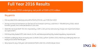 ing 2016 underlying net profit eur 4 976 million fy 2016 dividend