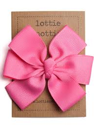 big hair bows bright hot pink big hair bow lottie nottie