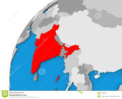 India On World Map by India On Globe In Red Stock Illustration Image 84782018