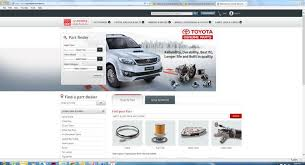 toyota website india toyota launches online parts and accessories purchase portal