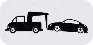 wrecked car clipart tow truck towing a car royalty free cliparts vectors and stock