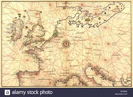 Spain France Map by Portolan Map Of Spain England France Germany The British Isles