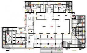 interior layout dwg building interior structure planning structure design dwg file