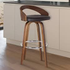 modern kitchen stool furniture modern bar stools with wood leg also leather cushions
