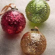 raz 6 gold and green glass finial ornaments raz