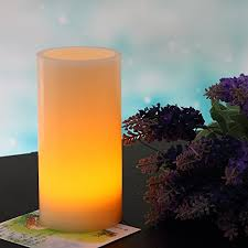 flickering led flameless candle light 8 x4 ivory unscented wax