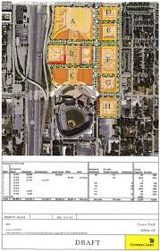 Atlanta Development Map by Pitched For Turner Field Parking Lots