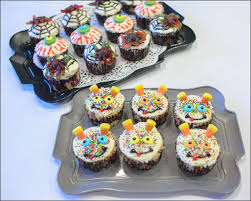 Halloween Cupcakes Cake by Creepy And Silly Halloween Cupcakes Gray Barn Baking