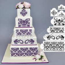 Damask Wedding Cake Stencil Uganda Trimmings Ltd