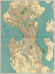 seattle map rand mcnally s map of seattle 1924