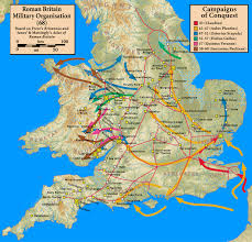 Britain Map List Of Roman Place Names In Britain Map
