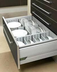 plate organizer for cabinet plate storage cabinet practical kitchen drawer organization ideas