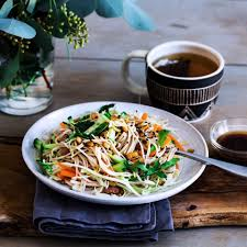 noodle salad with toasted pine nuts dreamy leaf