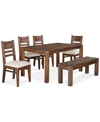 Kitchen Table Sets With Bench Seating Avondale 6 Pc Dining Room Set Created For Macy U0027s 60