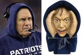 Patriots Halloween Costume Creepy Peeper Halloween Prop Dead Ringer Bill Belichick