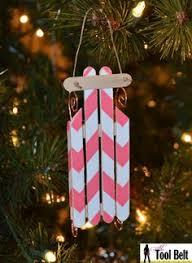 popsicle stick ornaments ornametns glue rhinestones i wanna