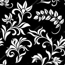 imagenes blancas en fondo negro patrón transparente con flores blancas sobre fondo negro foto de
