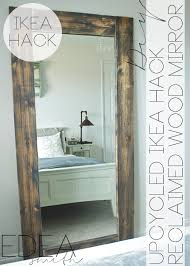 ikea mirror diy upcycled ikea hack mirror frame with plans edea smith