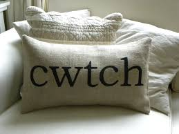 Cuddle Cushion Welsh Cwtch Cuddle Burlap Hessian Pillow Cushion Cover