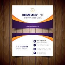 business card template design vector free