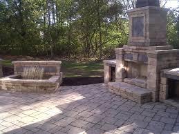 westlake ohio outdoor fireplaces patio installation 614 406