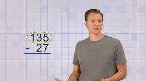 math antics multi digit subtraction youtube