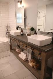 bathroom vessel sink ideas bathroom remodel restoration hardware hack mercantile console