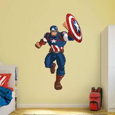 Custom Fatheads Wall Stickers Amazing Captain America Wall Decor Photos The Wall Art
