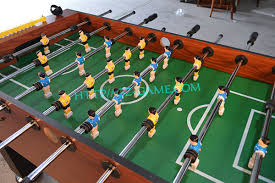electronic table football game modern football table foosball mini soccer game table metal foosball