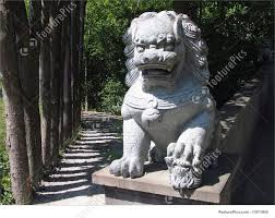lion statue image of japanese lion statue