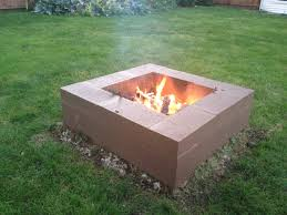 cinder block firepit cinder block fire pit outdoors pinterest