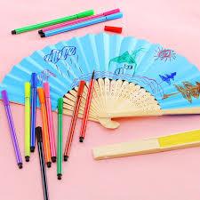 popular diy paper folding fan buy cheap diy paper folding fan lots